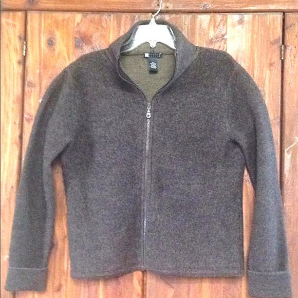 Carole Little Jackets & Blazers - Carole Little Brown 100% Wool Zip-Up Jacket | M